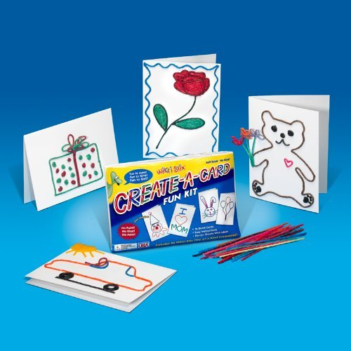 Colorful, Non-Toxic Wax And Yarn Product To Stimulate Imagination And Creativity. - Wikki Stix Create A Card Fun Kit