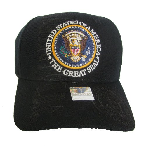 Black - The Great Presidential Seal Baseball Cap (Great Seal Hat compare prices)