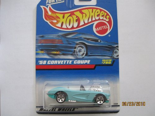 Hot Wheels 1998 #780 '58 Corvette - 1
