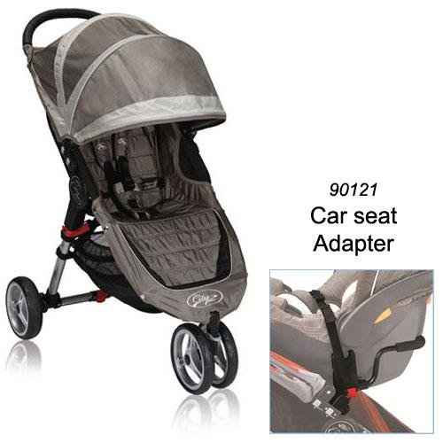 Baby Jogger 2012 City Mini Stroller in Sand/Stone with Car Seat Adapter