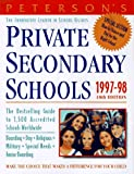 img - for Peterson's Private Secondary Schools 1997-98 book / textbook / text book