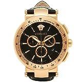 (ヴェルサーチ) VERSACE ヴェルサーチ 時計 メンズ VERSACE VFG140016 MYSTIQUESPORT ミスティックスポーツ クロノグラフ 腕時計 ウォッチ ブラック/ゴールド [並行輸入品]