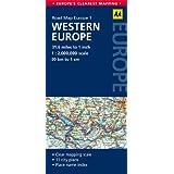 Road Map Western Europe (AA Road Map Europe 1)