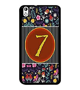 PrintDhaba Numerology Number 7 D-3094 Back Case Cover for HTC DESIRE 816 (Multi-Coloured)