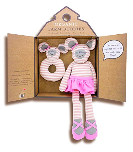 Organic Farm Buddies, Ballerina Mouse Gift Set