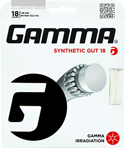 Gamma Synthetic Gut 18G Tennis String, White - 1