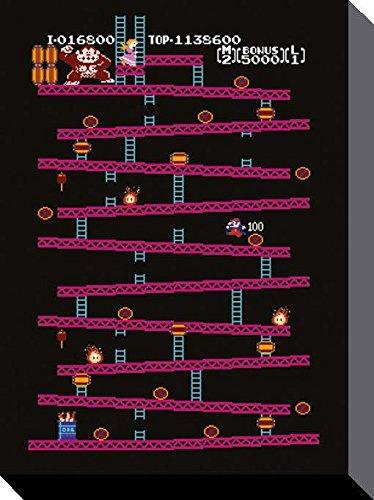 Donkey Kong NES Canvas Prints, poliestere, multicolore, 40 x 50 cm