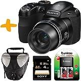 Bundle: Fuji S2980 Digital Bridge Camera +Sony 4GB +Case +Batteries & Charger (Fujifilm Finepix S2980, 14MP, 18xOptical Zoom, Electronic Viewfinder 3