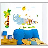 Decals Arts Third Generation Animals Wall Sticker for Kids