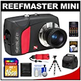 SeaLife ReefMaster Mini Digital Underwater Dive Camera (Waterproof to 200 Feet) with 16GB Card + Case + Batteries & Charger + Tripod + Accessory Kit