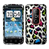 SODIAL(TM) HTC EVO 3D Accessory - Colorful Leopard Protective Hard Case Cover Design for Sprint 4G