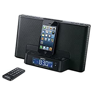 sony icfcs15ipn lightning alarm clock radio speaker dock for iphone 5 5s 6 ipod. Black Bedroom Furniture Sets. Home Design Ideas