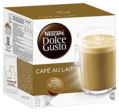 Nescafé Dolce Gusto Café au lait, Pack of 3, 3 x 16 Capsules