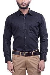 Hoffmen Men's Printed Cotton Formal Shirt
