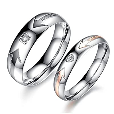 Stainless Steel Rings WEDDING JEWELRY Couple Ring Sets Designer Ring For Women And Men His And Hers Promise Finger Band
