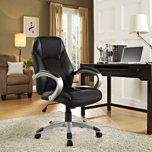 LexMod Resonate High Back Ergonomic Task Office Chair in Black