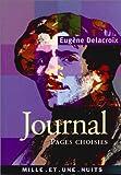 echange, troc Eugène Delacroix - Journal Pages Choisies