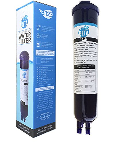 Beta Water Filter Replacement Cartridge Compatible for Whirlpool PUR Push Button 4396841, 4396710, Pur Filter3 (Water Filter Whirlpool Pur compare prices)