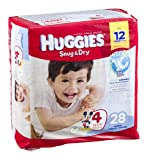 Huggies Snug & Dry Disney Baby Stage 4 Diapers (22-37 lb) 28 CT (Pack of 12)
