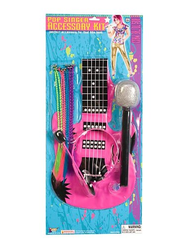 Forum Novelties Women'S 80'S To The Maxx Pop Singer Costume Accessory Kit, Multi, One Size