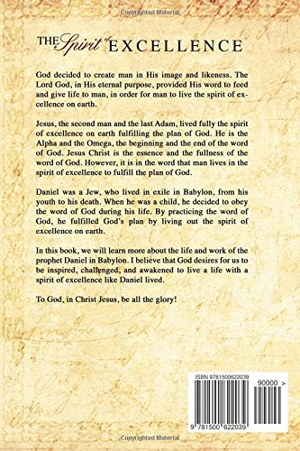 The Spirit of Excellence: A plan of God exemplified through Daniel