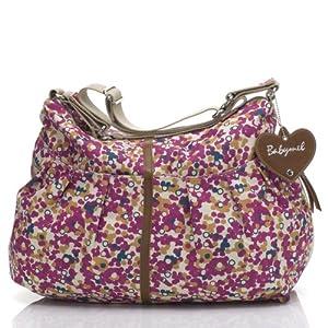 Babymel Amanda Printed Tote Bag, Color Burst Fuchsia from Babymel