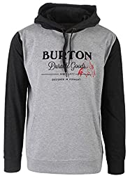 BURTON Men\'s Durable Goods Pullover Hoodie, X-Large, Gray Heather