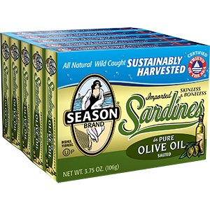Cos9 Season Brand Important Skinless And Boneless Sardines In Pure Olive Oil Salt