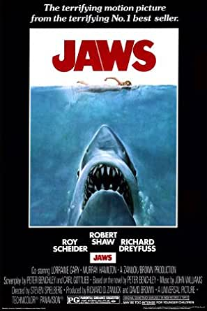 (24x36) Jaws Movie (Shark in Water) Poster Print at Amazon ...