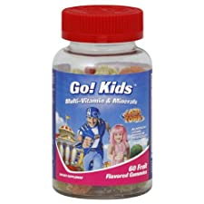 Go! Kids Multi-Vitamins & Minerals, Fruit Flavored Gummies, Lazy Town, 60 ct.