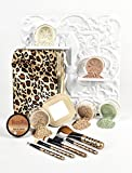 LEOPARD KIT w/ BRUSH SET & BAG Mineral Makeup Bare Skin Sheer Powder Foundation by Sweet Face Minerals (Warm)