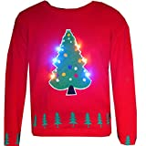 New-Ladies-Festive-Knitted-Christmas-Tree-with-Lights-Jumper-Womens-Party-Light-Up-Xmas-Sweater-Holiday-Casual-Party-Top-Size-SM-ML-LXL-XXL