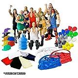Wrestler Accessory 57 Piece Deal For Wrestling Action Figures