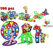 Toys Bhoomi 198 Piece Magical Magnetic Building Blocks Brain Booster Educational Toys For Kids - Huge Learning...