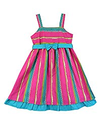 SSMITN Girls' Dress(SK2212_2-3Y, Pink, 2-3Y)