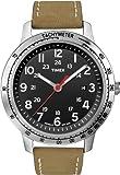 Timex Men's T2N636 Weekender Sport Brown Nubuck Leather Strap Watch