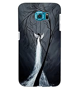 ColourCraft The Dark Angel Design Back Case Cover for SAMSUNG GALAXY S6 EDGE G925