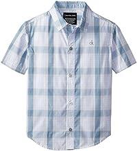 Calvin Klein Little Boys39 Phase Ombre Plaid Short Sleeve Woven Shirt