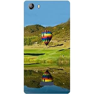 Casotec Air Ballons Design Hard Back Case Cover for Micromax Canvas 5 E481