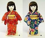 着付けが学べる日本人形 夢さくら 青・56112