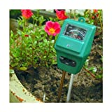 Koolertron 3 in 1 Moisture/Tester PH Light Meter for Hydroponic Plant Flowers Soil