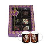Chocholik Belgium Chocolate Gifts - Golden Treasure Of Belgian Chocolates With Diwali Special Coffee Mugs - Diwali...