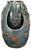 Nature's Garden Verdigris Blue Hummingbird Tabletop Garden Fountain