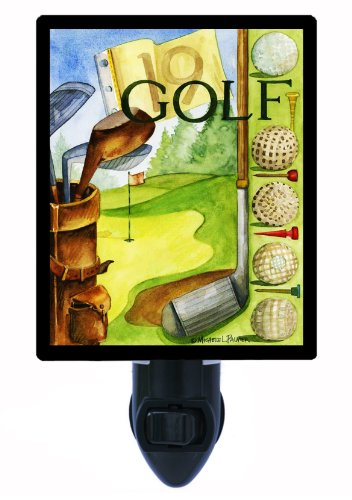 Sports Night Light - Vintage Golf - Led Night Light front-1072061