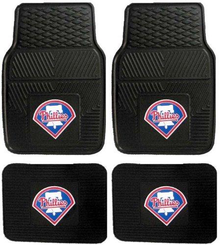 Mlb Philadelphia Phillies Car Floor Mats Heavy Duty 4-Piece Vinyl - Front And Rear front-298706