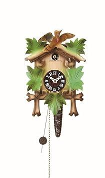 Orologio a cucù, colorato, meccanismo per un giorno, design 5 foglie ...