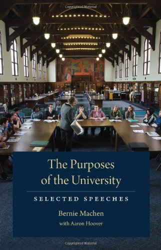 The Purposes Of The University: Selected Speeches front-400606