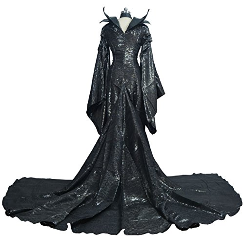 [HOT Movie Maleficent Costume Cosplay Black Dress Halloween Adult Witch Outfits (S)] (Female Centaur Costume)
