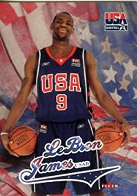 2003/04 Fleer USA Lebron James Rookie Card in Mint Condition Shipped in Ultra Pro Graded Card Sleeve to Protect it !