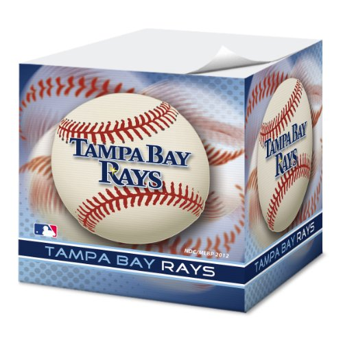 National Design Tampa Bay Devil Rays 2.75-Inch Sticky Note Cube (CUS-PJS)